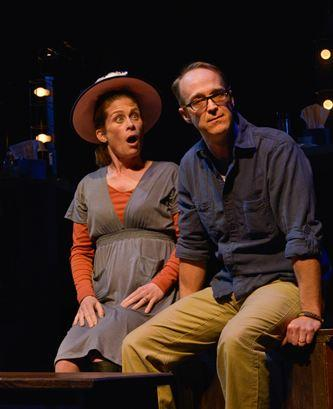 "Colleen Madden and James Ridge in ""Here We Are""."