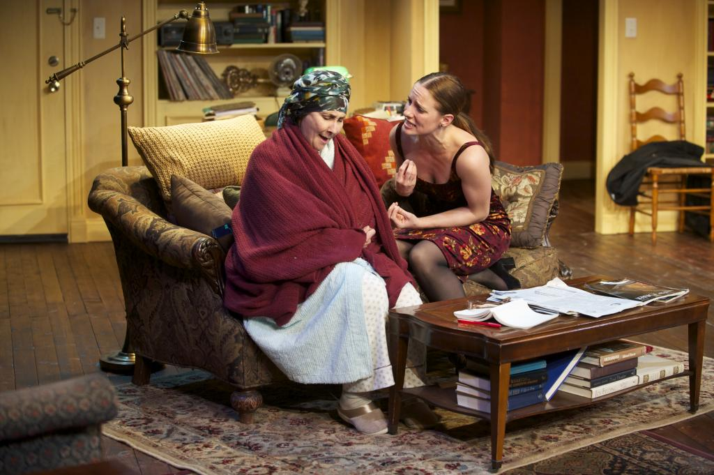 As the play ends, the women have traveled from mentor and student, to friends, to rivals. (Sarah Day and Laura Frye).