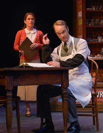 "Colleen Madden and James Ridge in ""Village Wooing""."