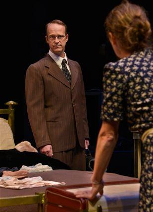 "James Ridge and Colleen Madden in ""The Jewish Wife""."