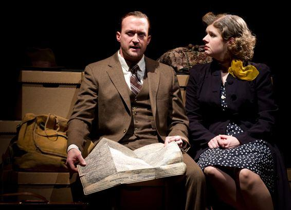 Josh Aaron McCabe as Walker Evans and Molly Rhode as Shirley Hughes.