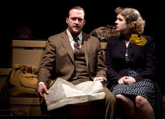 Josh Aaron McCabe as Walker Evans and Molly Rhode as Shirley Hughes.