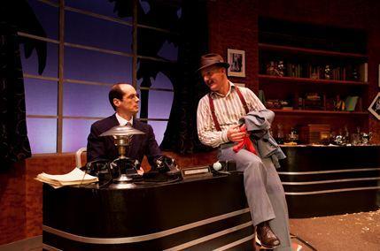 Mark Ulrich as David O. Selznick and Michael Herold as Ben Hecht.