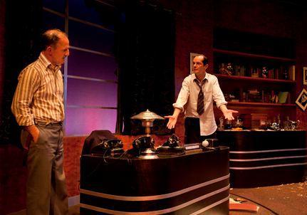 Michael Herold as Ben Hecht and Mark Ulrich as David O. Selznick.