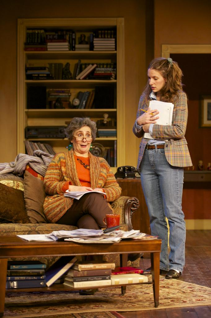 Ruth Steiner (Sarah Day) counsels her eager young student (Laura Frye).