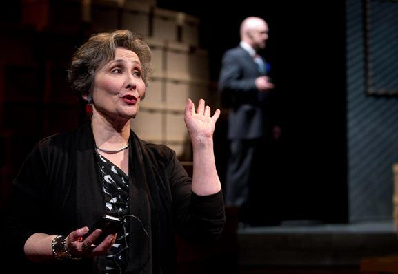 Sarah Day as Sally Quinn and Stacy Hicks at Brian Walters.